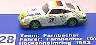 Foto 1:87 Porsche 911 Carrera 2 (Cup-Version) I.M.U./Farnbacher Nr.28 euromodell