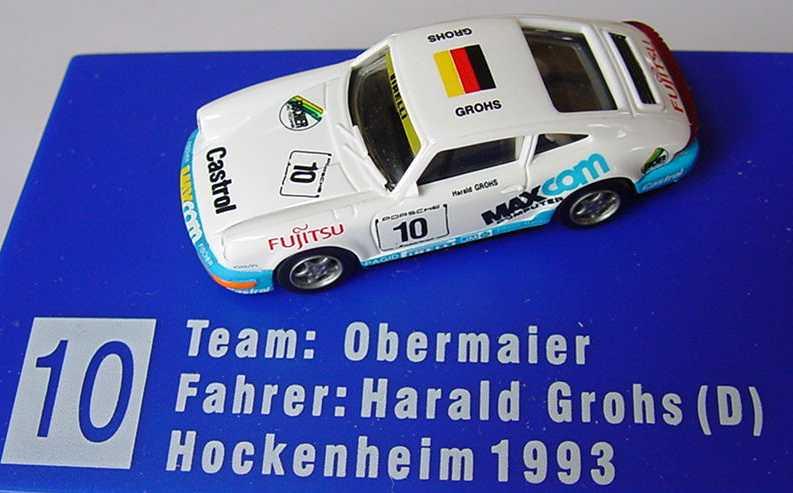 Foto 1:87 Porsche 911 Carrera 2 (Cup-Version) PCC ´93 Fujitsu, MaxCom Nr.10, Grohs euromodell 01215