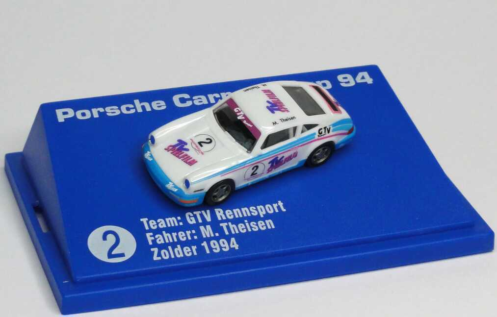 "1:87 Porsche 911 Carrera 2 (Cup-Version) PCC ´94 ""GTV, TV Spielfilm"" Nr.2, M. Theisen"