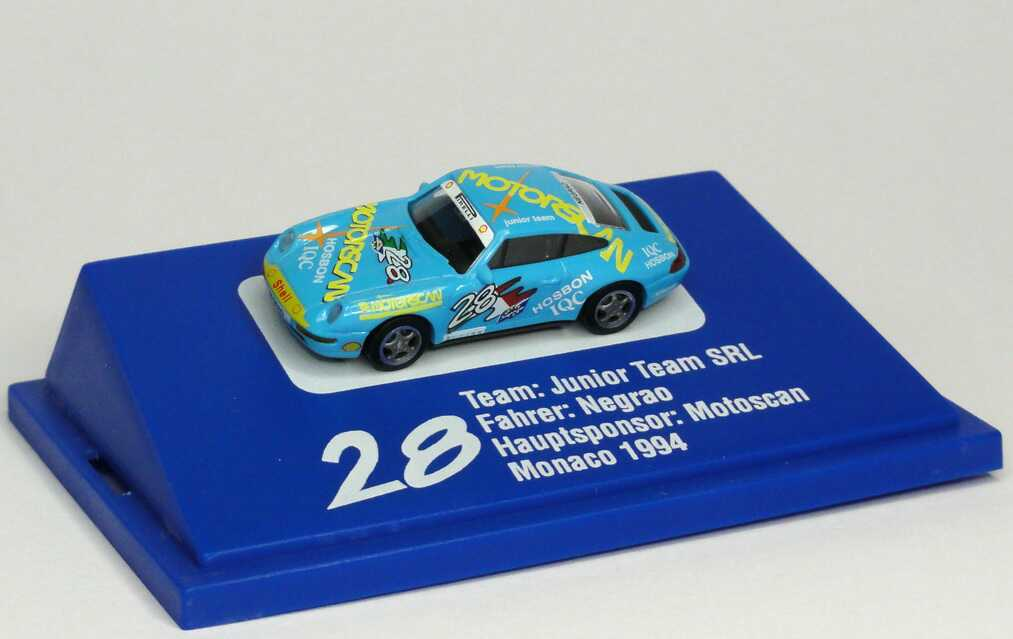 "1:87 Porsche 911 Carrera (993) PC ´94 ""Junior Team SRL, Motoscan"" Nr.28, Negrao"