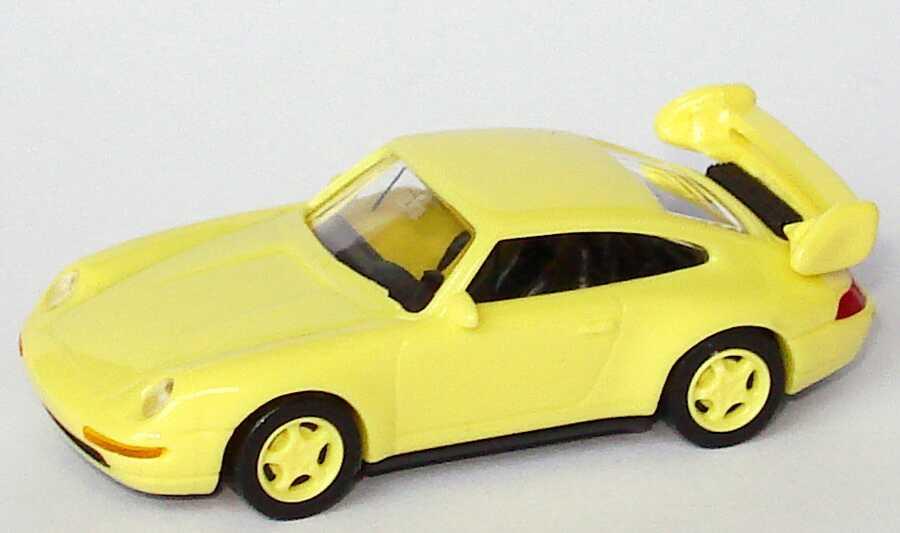 1:87 Porsche 911 RS Clubsport (993) ginstergelb, Felgen ginstergelb, mit Überrollbügel