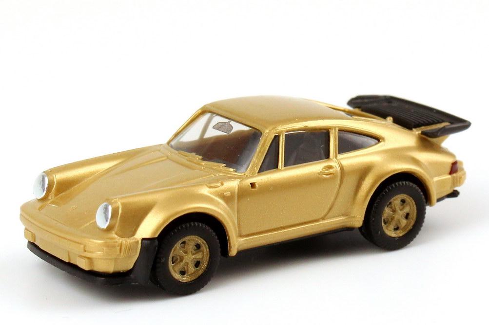 Foto 1:87 Porsche 911 Turbo gold-met., Felgen gold herpa 166096/80