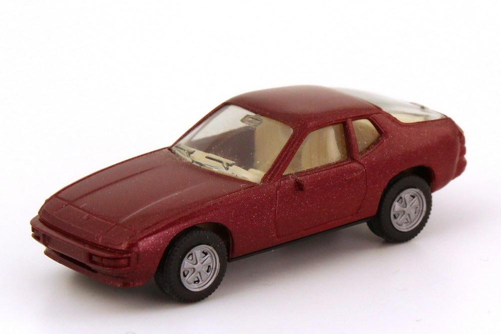 1:87 Porsche 924 weinrot-met., Fuchs-Felgen, IA grauweiß (oV)