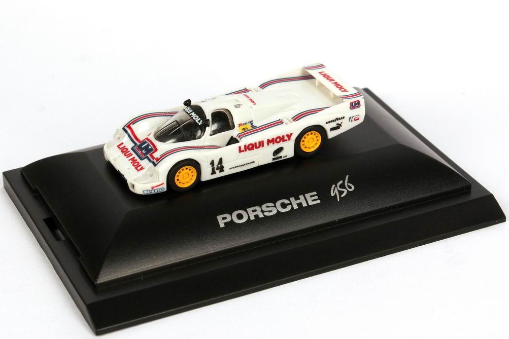 """1:87 Porsche 956 L 24h von LeMans 1986 """"Liqui Moly"""" Nr.14, Baldi / Cobb / Dyson (9. Platz)"""
