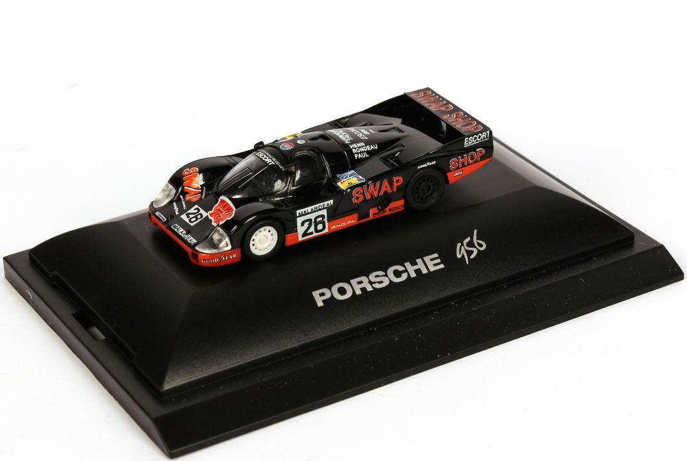 """1:87 Porsche 956 L 24h von LeMans 1984 """"Swap Shop"""" Nr.26, Rondeau / Henn / Paul Jr. (2. Platz)"""