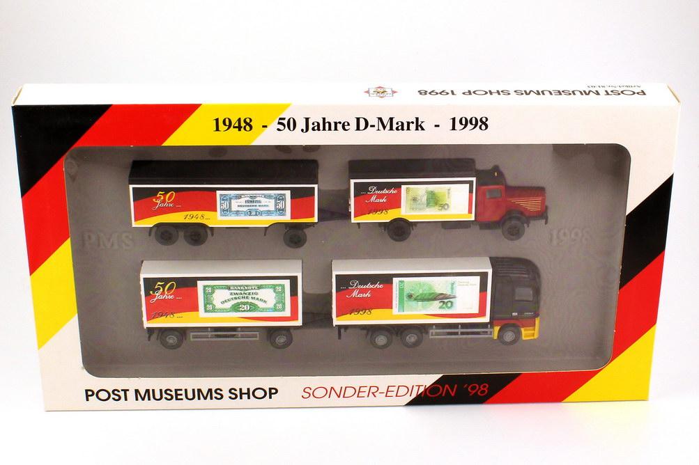 1 87 post museums shop setpackung 1998 50 jahre d mark b ssing 8000 mercedes actros wiking 81 03. Black Bedroom Furniture Sets. Home Design Ideas