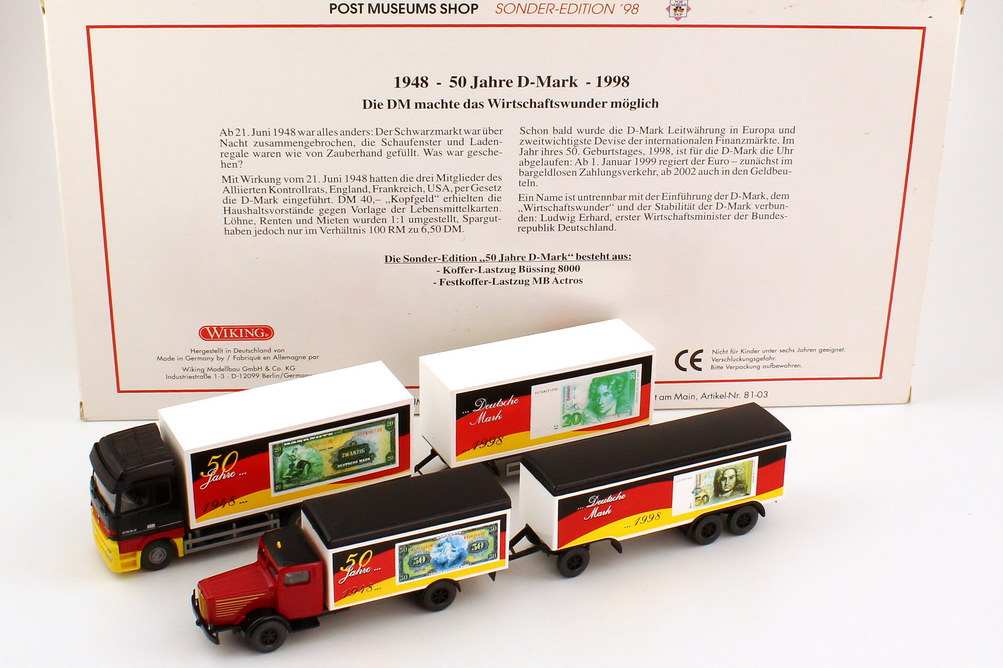 1 87 post museums shop setpackung 1998 50 jahre d mark wiking pms 81 03 ebay. Black Bedroom Furniture Sets. Home Design Ideas