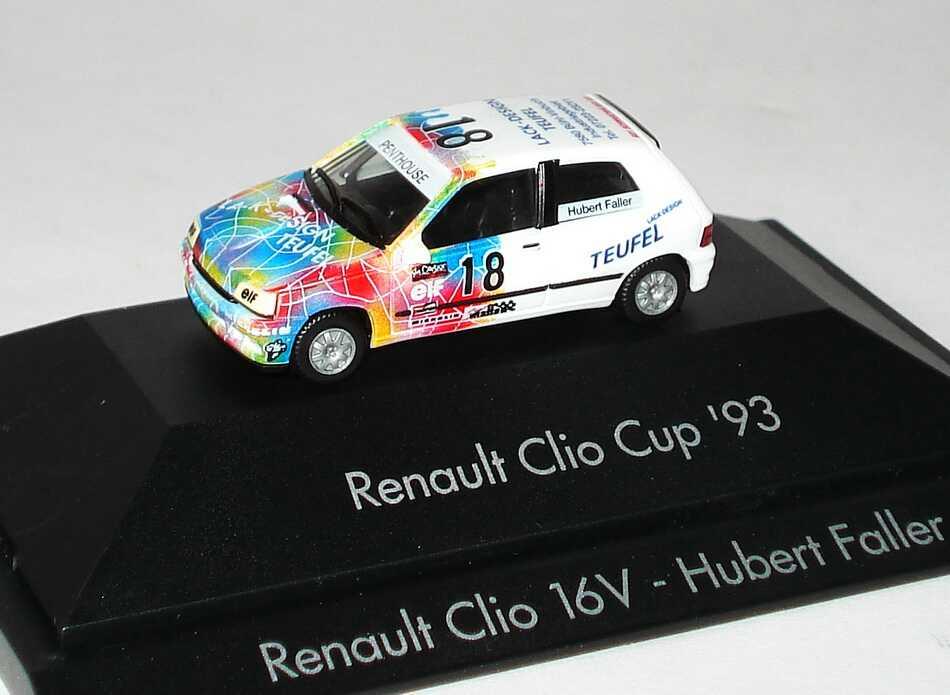 "1:87 Renault Clio 16V Clio Cup ´93 ""Teufel"" Nr.18, Hubert Faller"