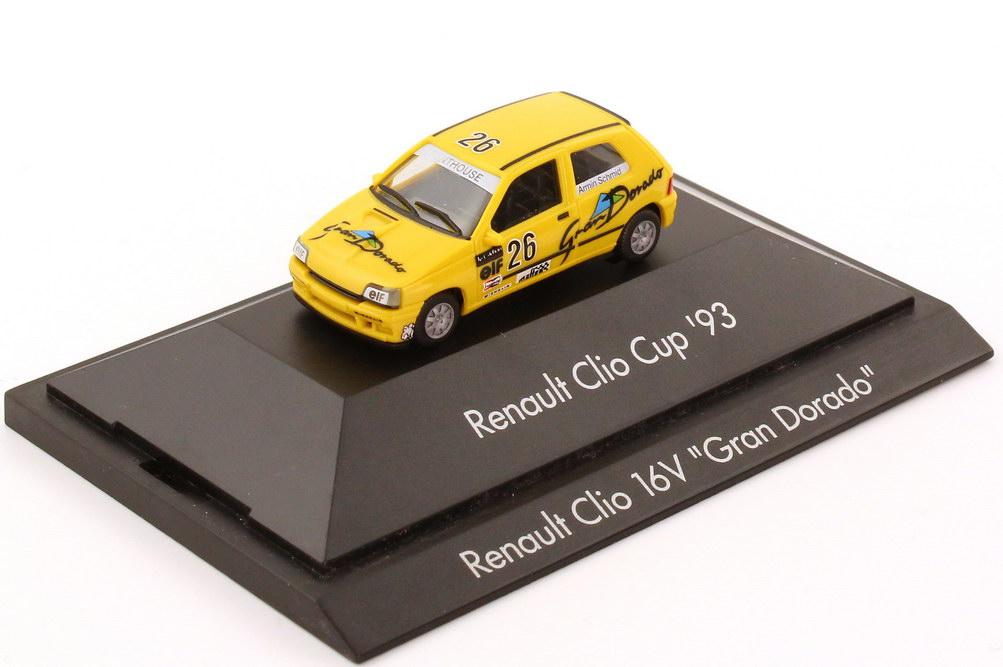 """1:87 Renault Clio 16V Clio Cup ´93 """"Gran Dorado"""" Nr.26, Armin Schmid (oV)"""