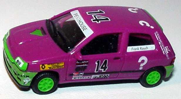 """1:87 Renault Clio 16V """"?"""" Nr.14, Frank Rauch (ohne PC-Box) (oV)"""