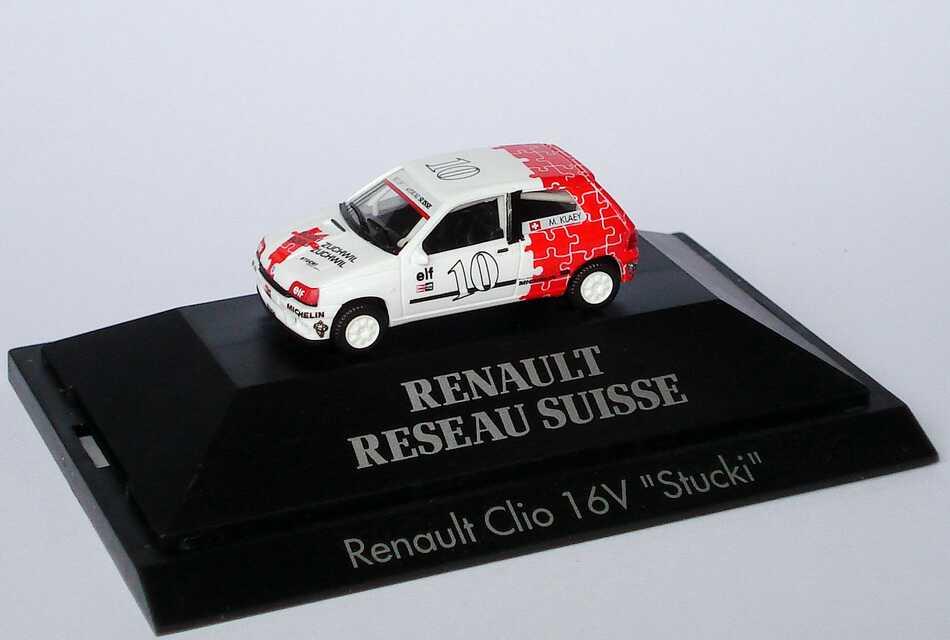 "1:87 Renault Clio 16V  RR Suisse ""Stucki"" Nr.10, Klaey"