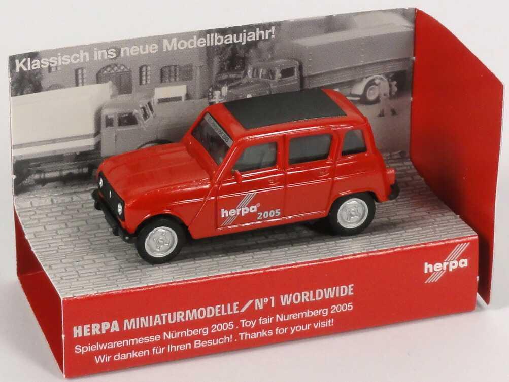"""1:87 Renault R4 """"22. Herpa IAA 2005"""" (Messemodell Spielwarenmesse Nürnberg 2005)"""