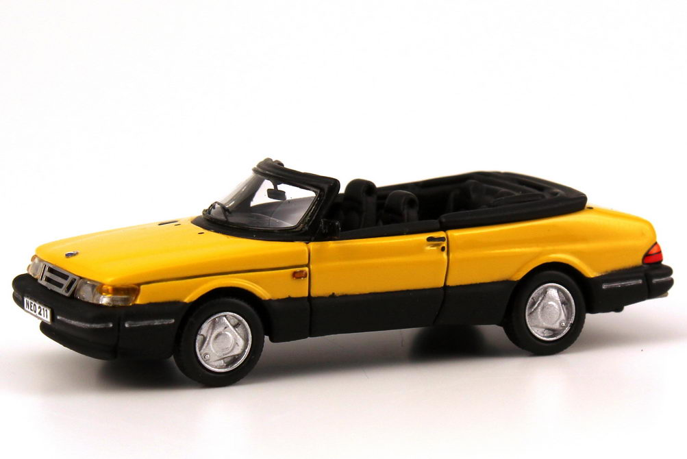 1 87 saab 900 turbo cabrio yellow yellow neo scale models 87211 ebay. Black Bedroom Furniture Sets. Home Design Ideas