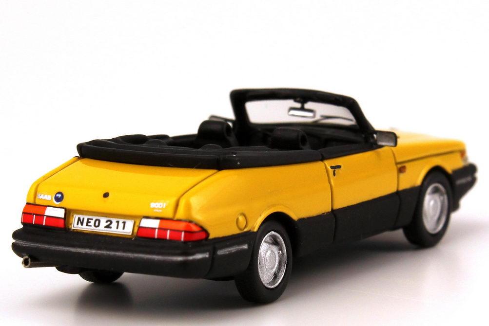 1 87 saab 900 turbo cabrio gelb yellow neo scale models 87211 ebay. Black Bedroom Furniture Sets. Home Design Ideas