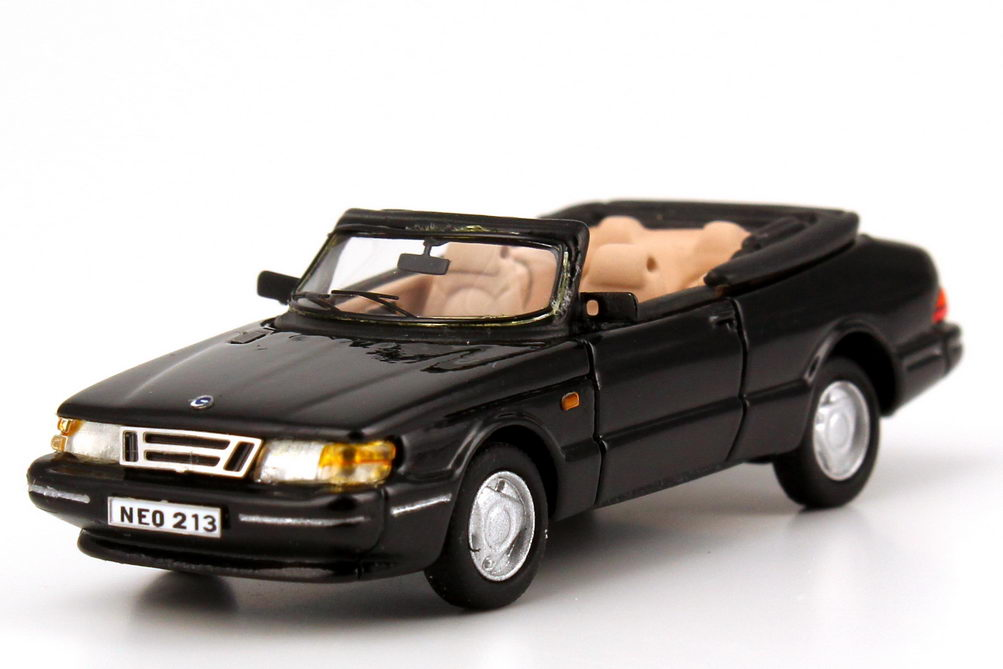 1 87 saab 900 turbo cabrio schwarz black neo 87213. Black Bedroom Furniture Sets. Home Design Ideas