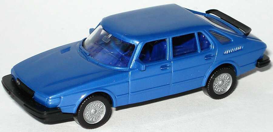 Foto 1:87 Saab 900 blau-met. - Wiking 21501