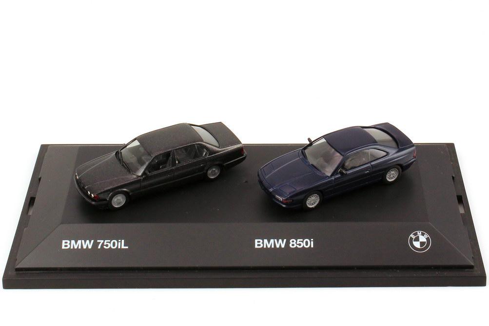 1 87 bmw setpackung bmw 750il schwarz met bmw 850i. Black Bedroom Furniture Sets. Home Design Ideas