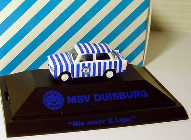 Foto 1:87 Trabant 601S MSV Duisburg niemehr 2. Liga! - herpa