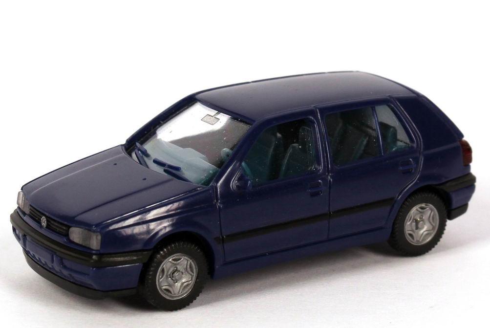 Foto 1:87 VW Golf III GL 4türig dunkelblau IA blau - Wiking 05102