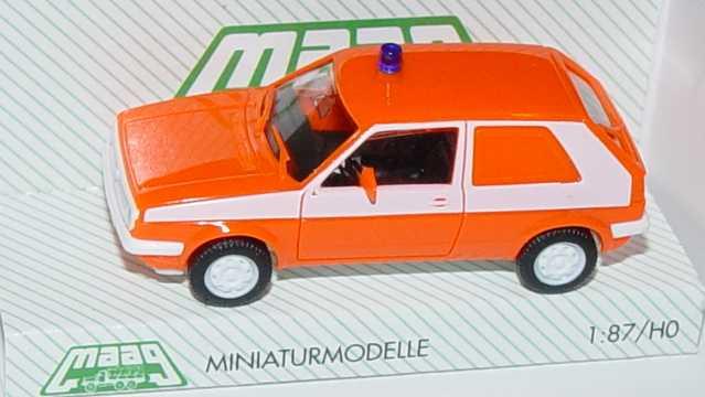 1:87 VW Golf II 2türig Lieferwagen Feuerwehr tagesleuchtrot/weiß
