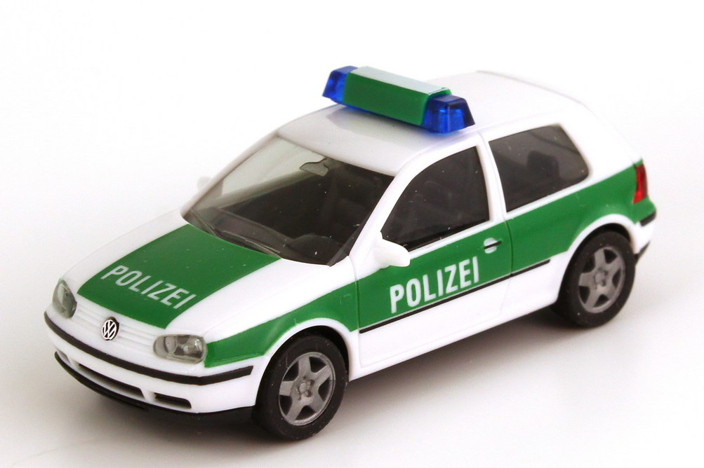 1 87 vw golf iv 2t rig polizei wei gr n mit. Black Bedroom Furniture Sets. Home Design Ideas