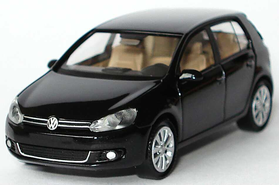 1 87 vw golf vi 5t rig deepblack perleffekt werbemodell. Black Bedroom Furniture Sets. Home Design Ideas