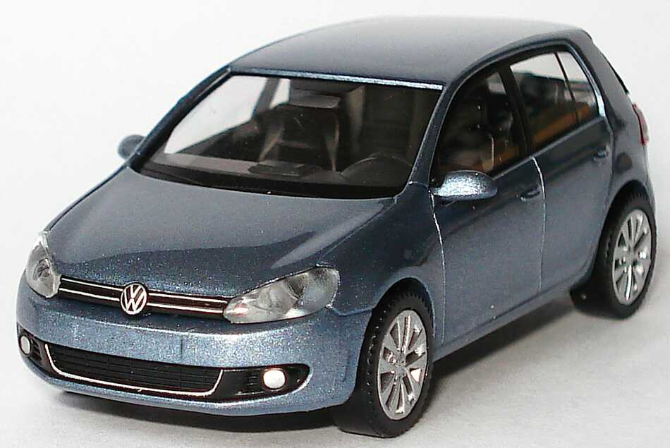 vw golf vi 5t rig sharkblue met werbemodell wiking. Black Bedroom Furniture Sets. Home Design Ideas