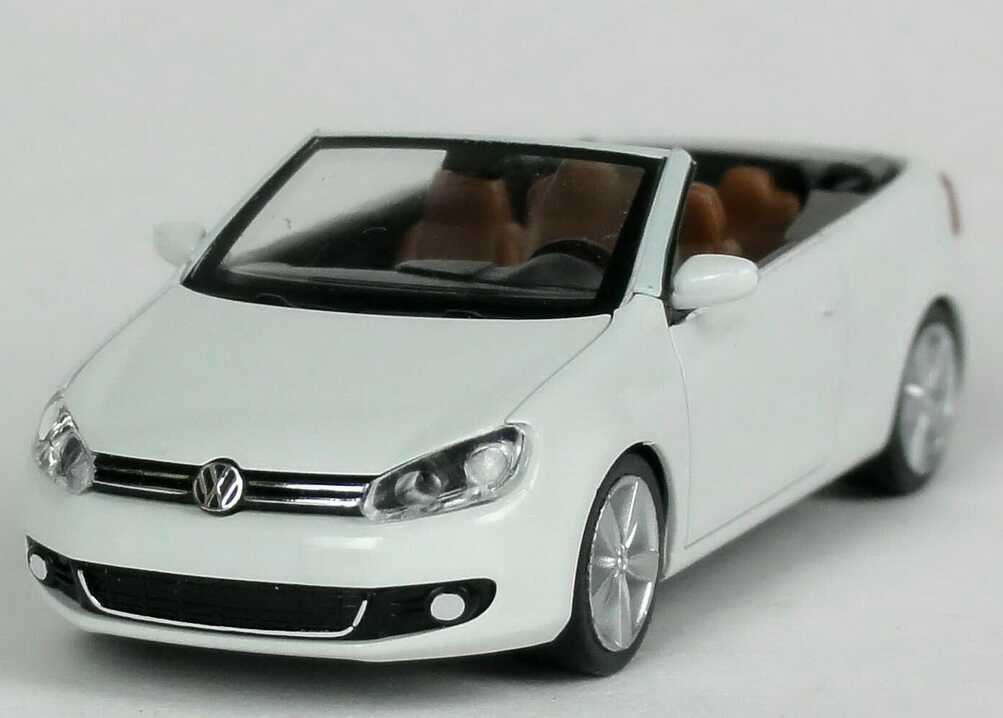 1 87 vw golf vi 6 cabriolet pure white white volkswagen. Black Bedroom Furniture Sets. Home Design Ideas