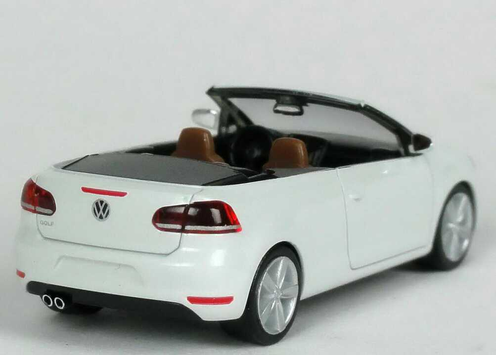 1 87 vw golf vi 6 cabriolet pure white white volkswagen dealer edition herpa ebay. Black Bedroom Furniture Sets. Home Design Ideas