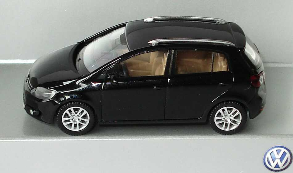 1 87 vw golf v plus facelift 2009 deepblack schwarz volkswagen dealer edition ebay. Black Bedroom Furniture Sets. Home Design Ideas