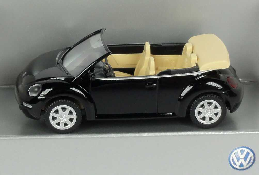 1 87 vw new beetle cabrio schwarz werbemodell wiking 1y0099301041. Black Bedroom Furniture Sets. Home Design Ideas