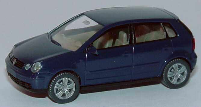 vw polo iv 2002 typ 9n 4t rig stahlblau wiking 03403 in. Black Bedroom Furniture Sets. Home Design Ideas