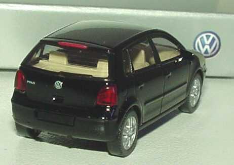vw polo iv 2002 9n 4t rig schwarz werbemodell wiking 6q0099301041 in der modellauto. Black Bedroom Furniture Sets. Home Design Ideas