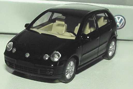 vw polo iv 2002 9n 4t rig schwarz werbemodell wiking 6q0099301041 bild 3. Black Bedroom Furniture Sets. Home Design Ideas