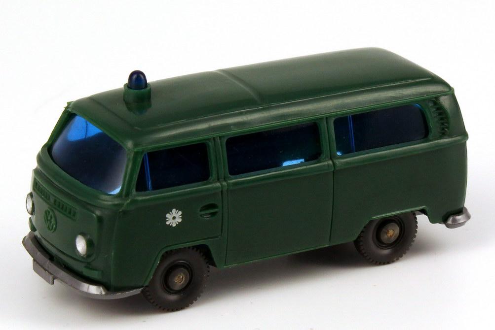 1:87 VW T2 Bus Polizei grün, mit Türwappen (oV)