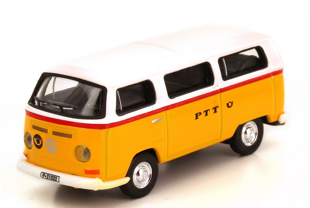 Foto 1:87 VW T2 (T2a) Bus PTT Post Schweiz Schuco 25402