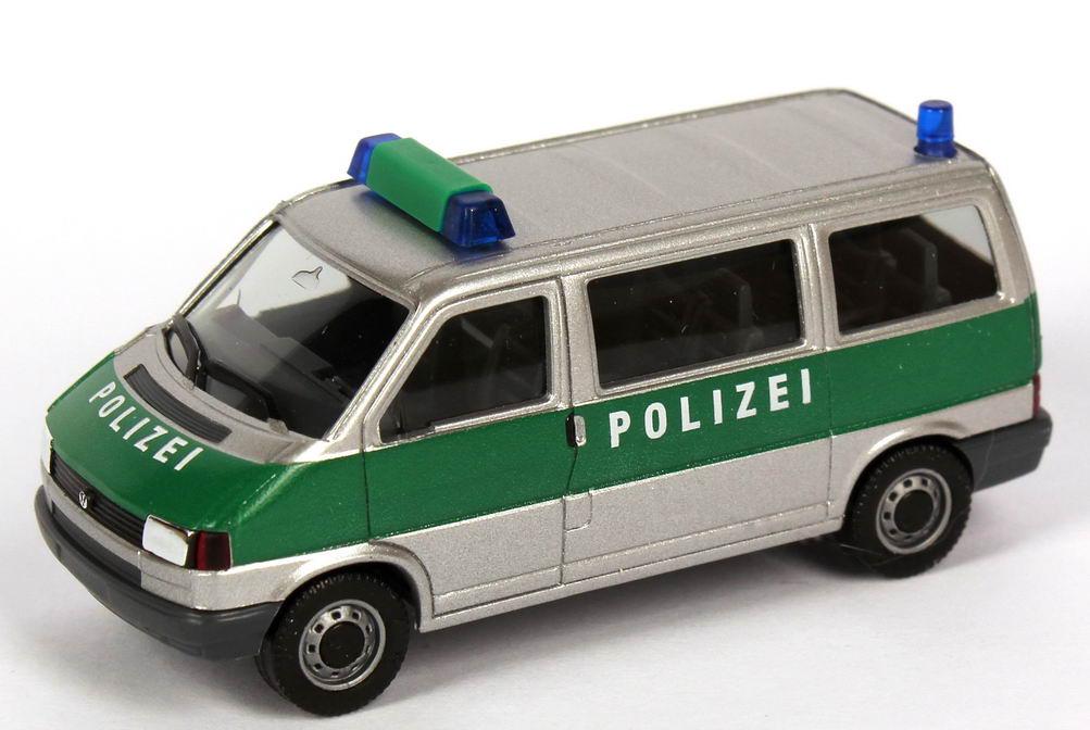 herpa vw t4 bus polizei niedersachsen silbermet gr n bei. Black Bedroom Furniture Sets. Home Design Ideas