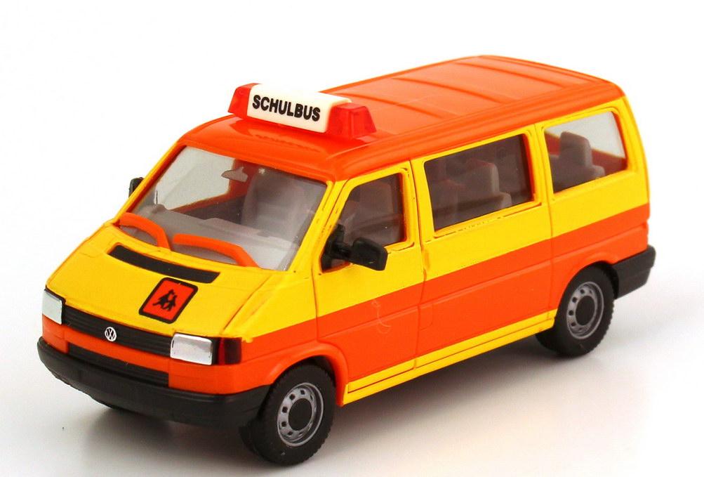 1 87 vw t4 caravelle schulbus gelb orange herpa 041652. Black Bedroom Furniture Sets. Home Design Ideas