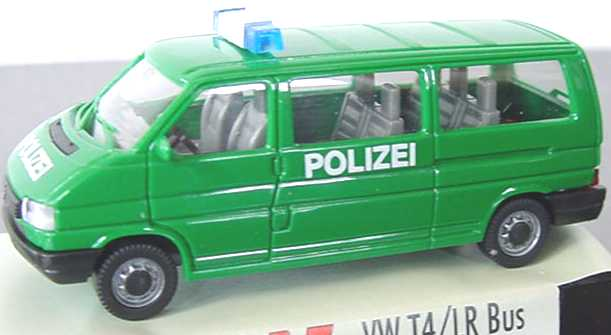 vw t4 bus lang polizei gr n amw awm 3011 1 bild 3. Black Bedroom Furniture Sets. Home Design Ideas