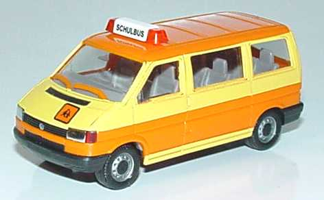 1 87 vw t4 caravelle schulbus gelb leuchtorange herpa 041652. Black Bedroom Furniture Sets. Home Design Ideas