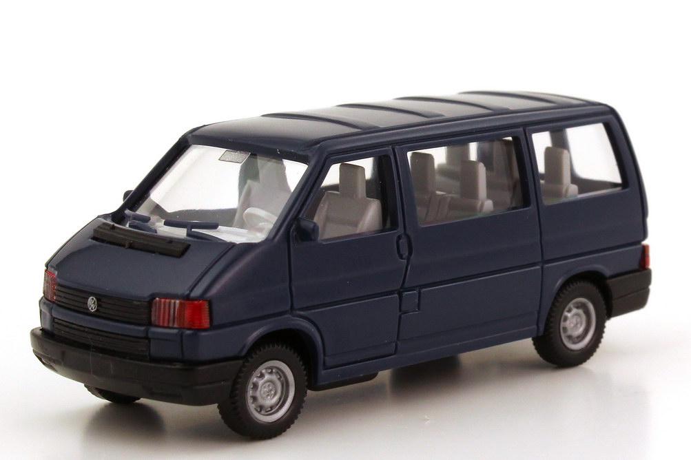 1 87 vw t4 caravelle mit heckt ren stahlblau wiking 296. Black Bedroom Furniture Sets. Home Design Ideas