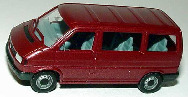 1 87 vw t4 caravelle rot met herpa 041577. Black Bedroom Furniture Sets. Home Design Ideas