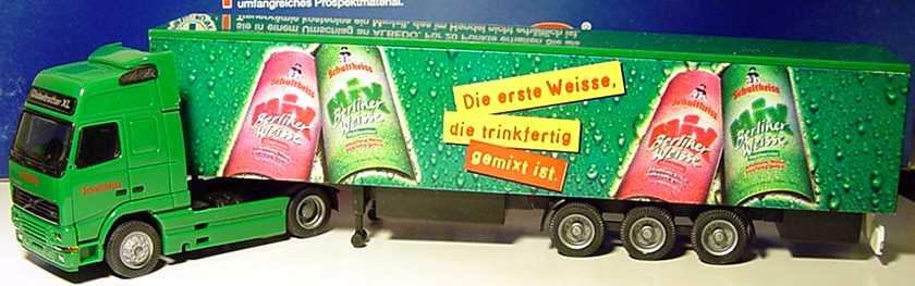 "1:87 Volvo FH Globetrotter XL Fv Cv KoSzg 2/3 ""Schultheiss, Berliner Weisse Mix"""