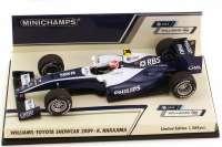 Williams-Toyota FW31 Showcar Formel 1 2009 RBS Philips Nr.17 Kazuki Nakajima - Minichamps 400090087