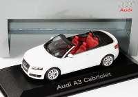 Audi A3 Cabrio ibisweiß Werbemodell Minichamps 5010803313