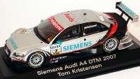 """Audi A4 DTM 2007 """"Siemens"""" Nr.7, Tom Kristensen Werbemodell Minichamps 5020700123"""