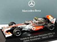 """McLaren Mercedes MP 4-24 Formel 1 2009 """"Vodafone"""" Nr.2, Heikki Kovalainen Werbemodell Minichamps B66960039"""