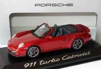 Porsche 911 turbo Cabriolet (997, Modell 2010) rubinrot-met. Werbemodell Minichamps WAP0200130A