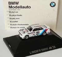 """BMW M3 (E30) DTM 1990 """"Linder, Vogelsang"""" Nr.11, Heger Werbemodell herpa 82229417844"""