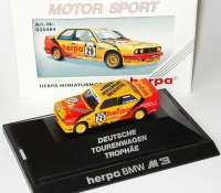 BMW M3 E30 DTT 1992 Herpa Miniatur Modelle Nr.29 Michael Neumeister - herpa 035484